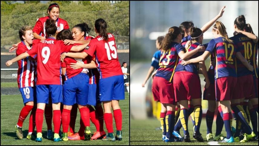 Atleti Féminas y FC Barcelona buscan los cuartos de final de la Champions Femenina