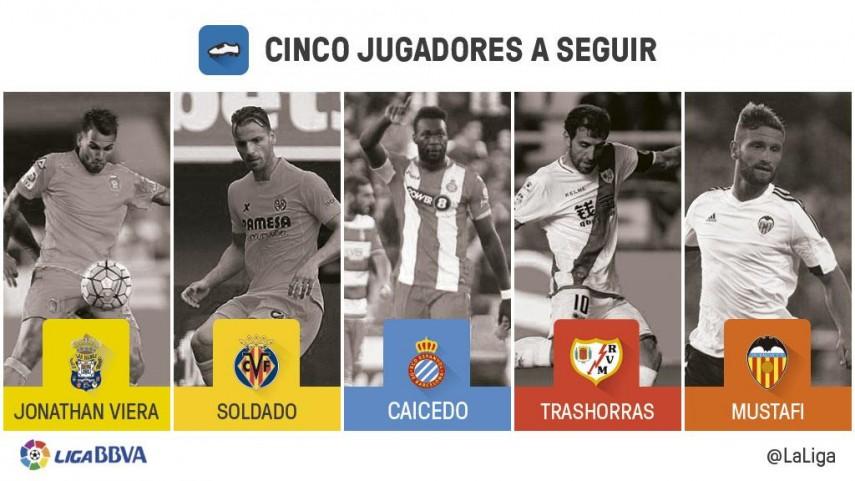 Cinco jugadores a seguir en la jornada 12 de la Liga BBVA