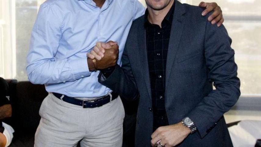Kluivert y Mendieta, comprometidos con UNICEF