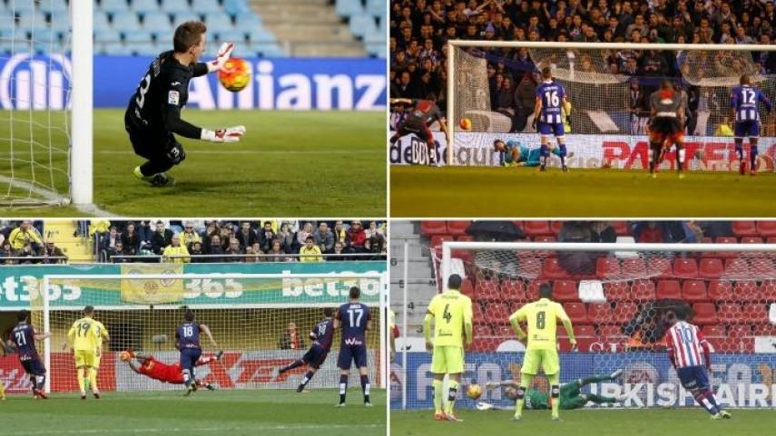 Lux, Rubén, Areola y Guaita, reyes de la pena máxima en la jornada 12 de Liga BBVA