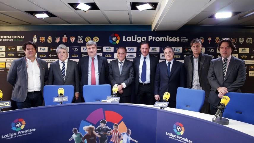 """Tebas: """"Gracias a LaLiga Promises impulsaremos el fútbol español fuera de nuestras fronteras"""""""
