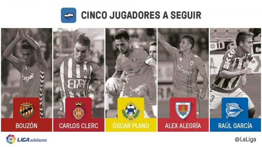 Cinco jugadores a seguir en la jornada 15 de la Liga Adelante
