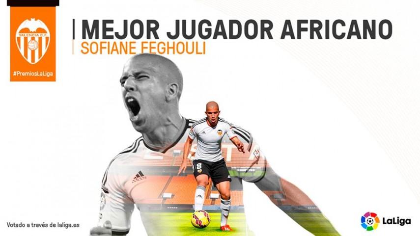 Feghouli, 'Mejor Jugador Africano de la Liga BBVA 2014/15'