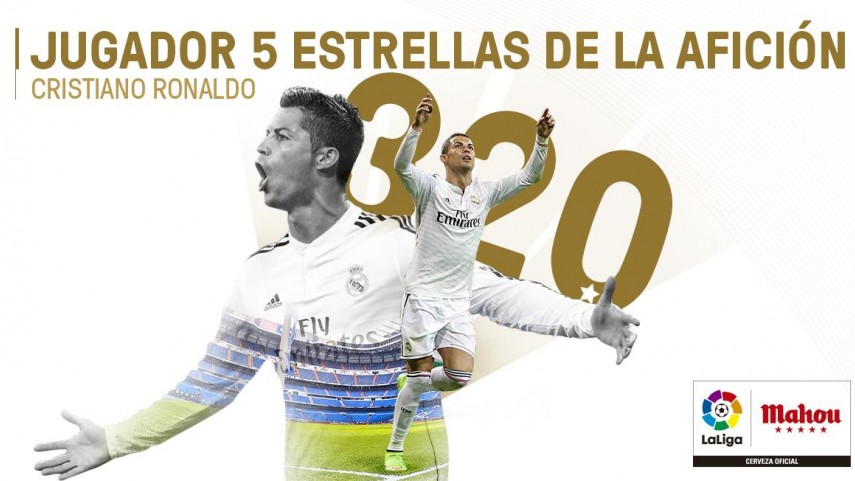 Cristiano Ronaldo, 2014/15 Fans´ Five-Star Player