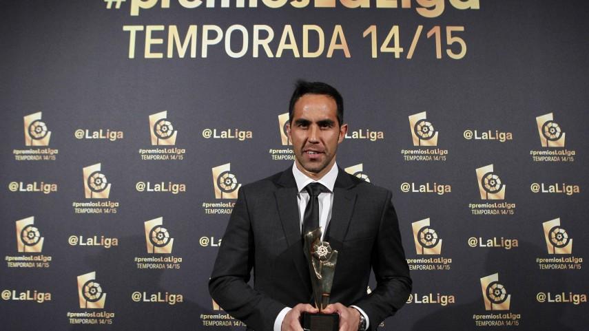 Claudio Bravo, 'Mejor Portero de la Liga BBVA 2014/15'