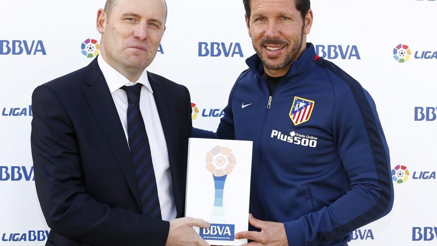 Diego Pablo Simeone, mejor entrenador de la Liga BBVA en noviembre