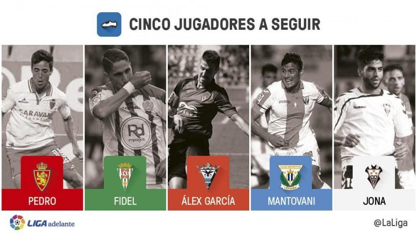 Cinco jugadores a seguir en la jornada 16 de la Liga Adelante