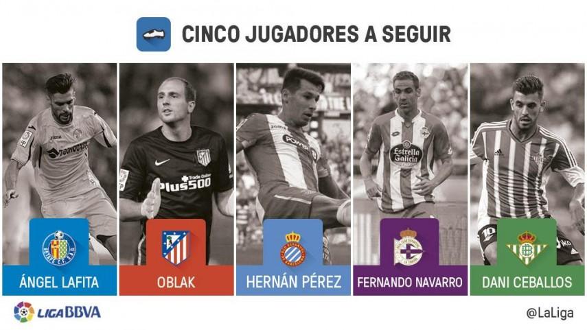 Cinco jugadores a seguir en la jornada 14 de la Liga BBVA
