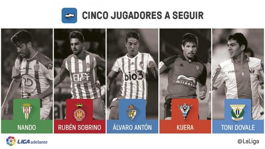 Cinco jugadores a seguir en la jornada 17 de la Liga Adelante