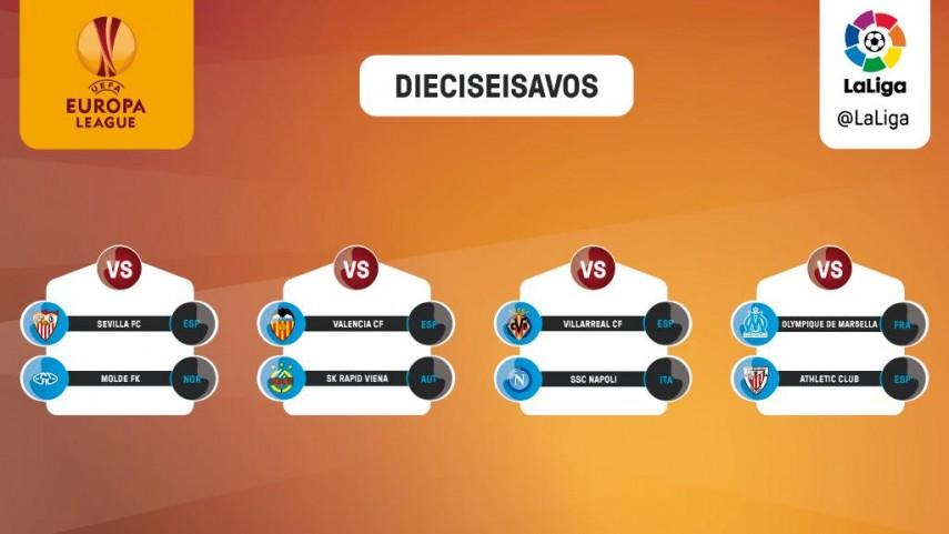Los equipos españoles ya conocen a sus rivales de la siguiente ronda de Europa League