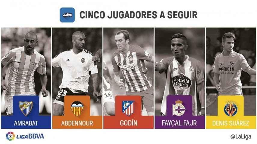Cinco jugadores a seguir en la jornada 16 de la Liga BBVA