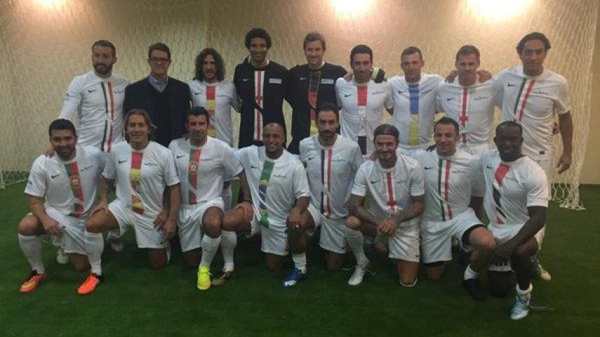 Figo, Roberto Carlos, Puyol y Míchel Salgado, se vuelven a vestir de corto