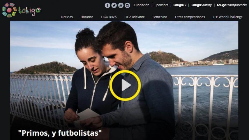 LaLiga rediseña su página web oficial