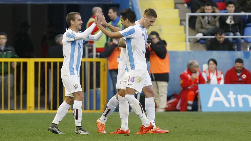 Duda firma de falta el tercer triunfo consecutivo del Málaga