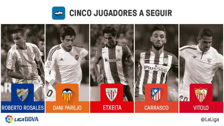 Cinco jugadores a seguir en la jornada 18 de Liga BBVA
