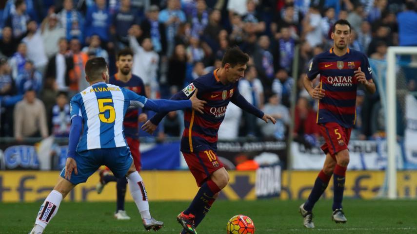 La intensidad del Espanyol pone freno al Barcelona