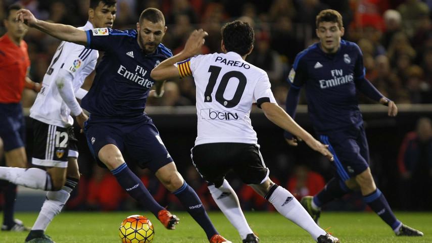 Horario del Valencia CF - Real Madrid de la jornada 16 de LaLiga Santander