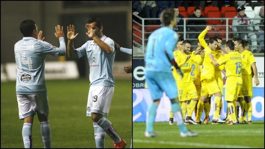 Victoria de Celta y UD Las Palmas en los partidos que completan la ida de octavos de final de Copa del rey