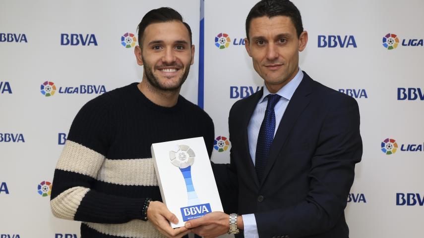 Lucas Pérez, mejor jugador de la Liga BBVA en diciembre