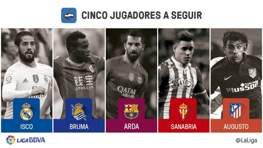 Cinco jugadores a seguir en la jornada 19 de Liga BBVA