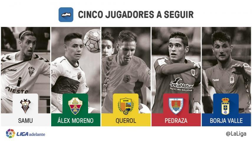 Cinco jugadores a seguir en la jornada 20 de la Liga Adelante