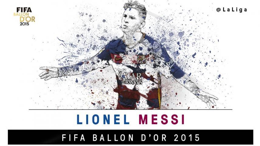LaLiga felicita a Leo Messi por su quinto Balón de Oro