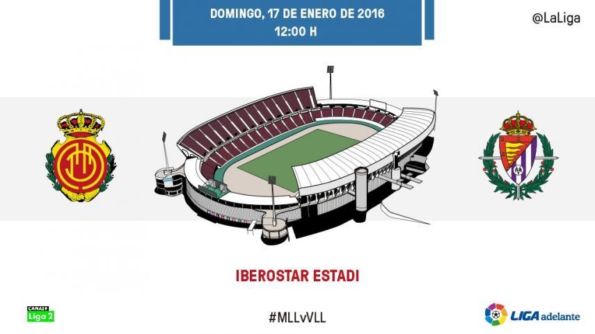 El RCD Mallorca medirá la buena dinámica del R. Valladolid CF