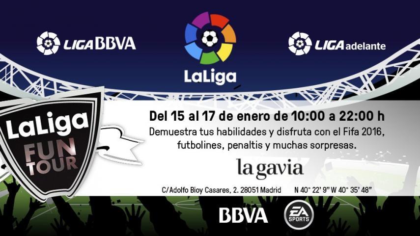 LaLiga Fun Tour se juega en el centro comercial La Gavia