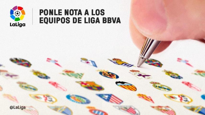 Ponle nota a los equipos de la Liga BBVA en la primera vuelta