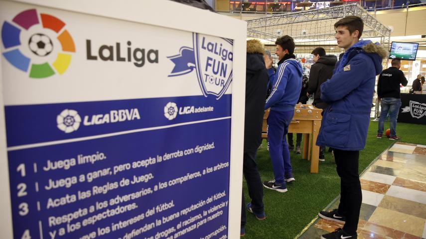 LaLiga Fun Tour se juega en el centro comercial Serrallo Plaza de Granada