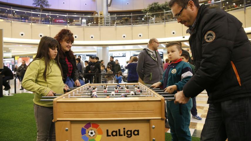 LaLiga Fun Tour se juega en el Centro Comercial Travesía de Vigo