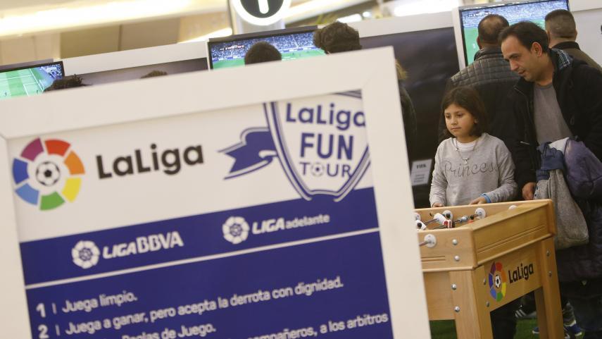 LaLiga Fun Tour se juega en el centro comercial Parc Central de Tarragona