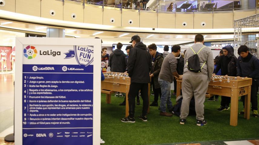 LaLiga Fun Tour se juega en el centro comercial Camaretas de Soria