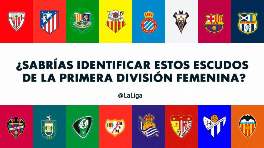 ¿Sabrías identificar estos escudos de la Primera División Femenina?
