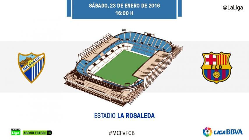 La Rosaleda, nuevo test de exigencia para el FC Barcelona