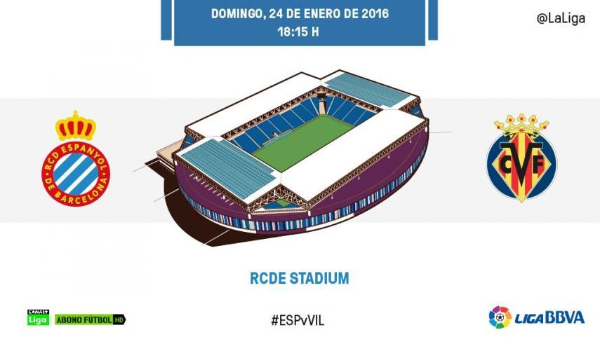 El Espanyol quiere remontar el vuelo frente al Villarreal