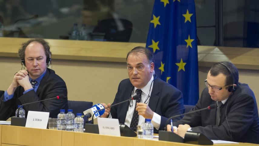 LaLiga expone en el Parlamento Europeo los beneficios de las licencias audiovisuales a nivel territorial