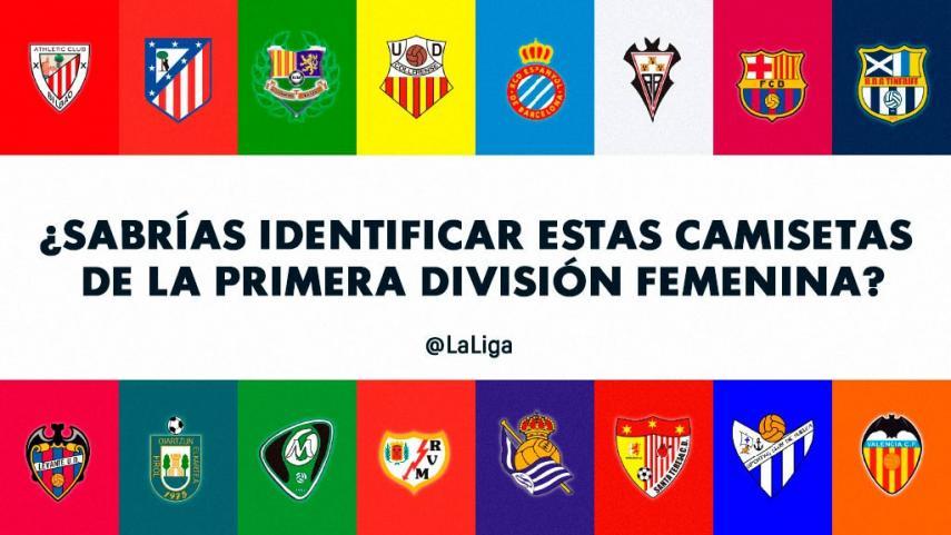 ¿Sabrías identificar estas camisetas de la Primera División Femenina?