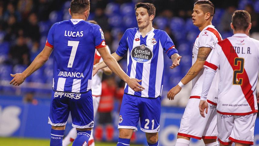 Lucas Pérez pone freno al Rayo Valllecano