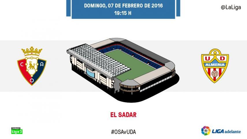 El Almería amenaza el sueño de Osasuna