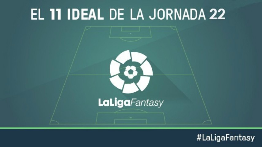 Once ideal de LaLiga Fantasy en la jornada 22