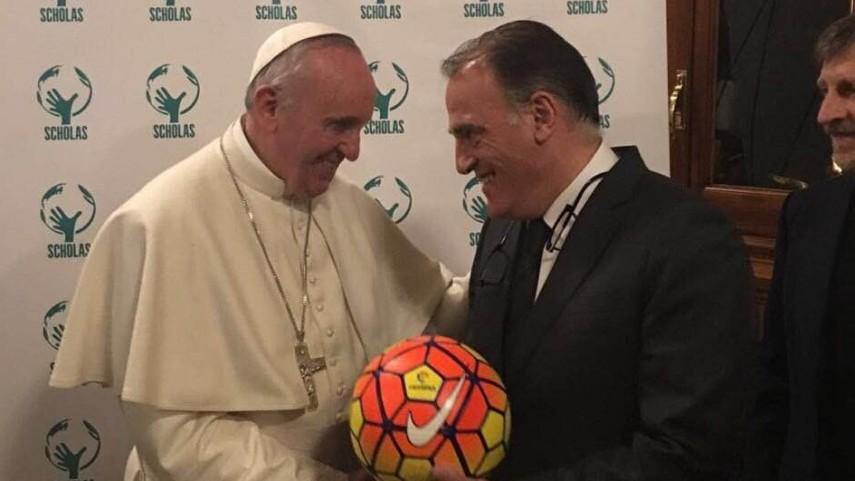 LaLiga, recibida por el papa Francisco