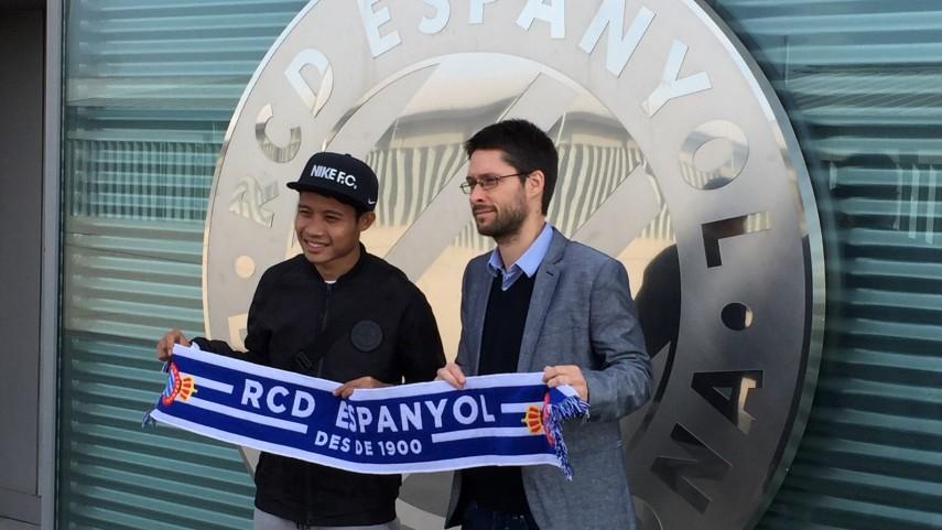 Evan Dimas se incorpora a la disciplina del RCD Espanyol