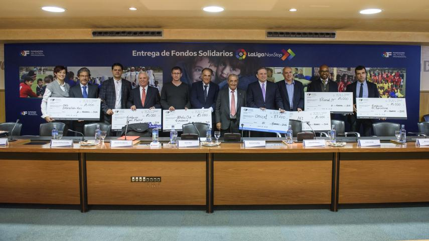 La Fundación de LaLiga entrega los fondos solidarios de la Jornada LaLigaNonStop