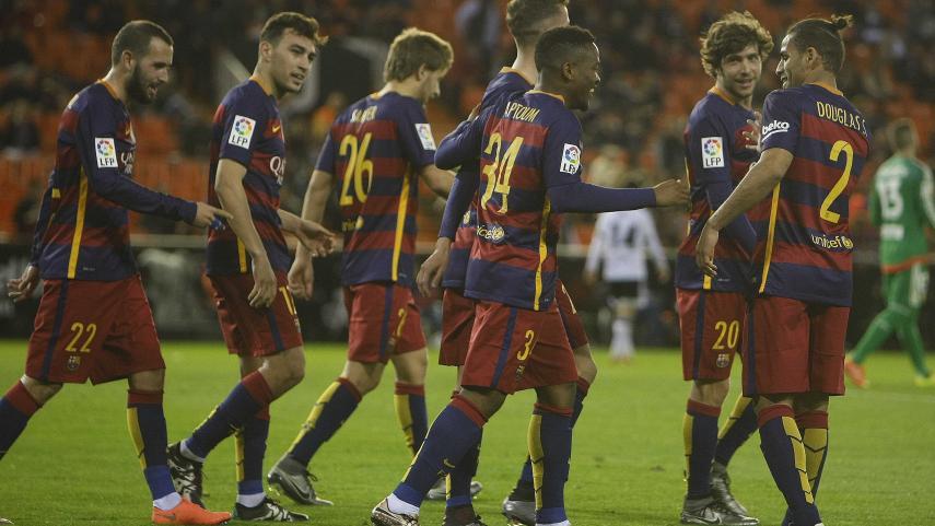 El Barcelona, a la final de Copa tras empatar ante el Valencia