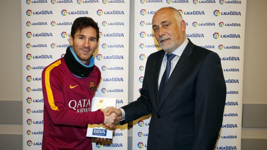 Lionel Messi named Liga BBVA Player of the Month for January