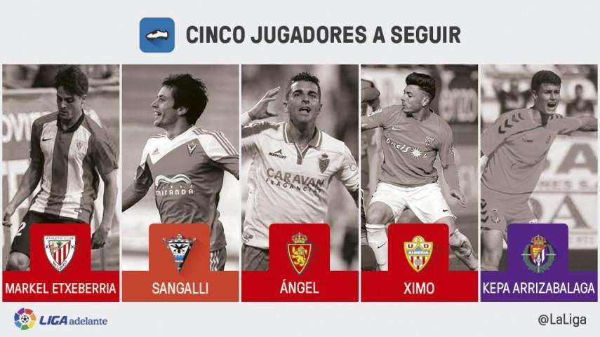 Cinco jugadores a seguir en la jornada 25 de la Liga Adelante
