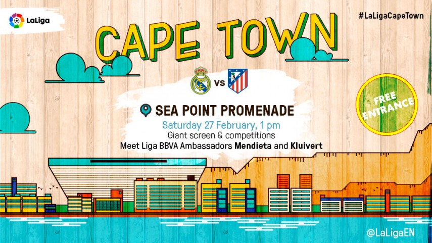 The Madrid derby will be shown live in Cape Town on a giant screen