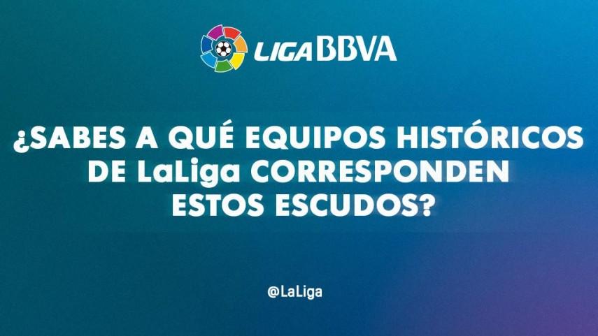¿Sabes a qué equipos históricos de LaLiga corresponden estos escudos?