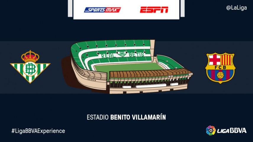 El R. Betis - FC Barcelona recibirá la visita de los espectadores de ESPN y Sportsmax